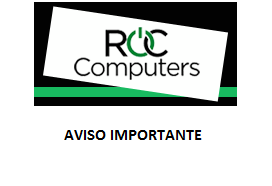 NOTA IMPORTANTE ROC COMPUTERS